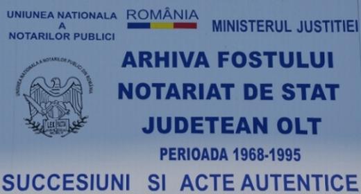 Arhiva fostului Notariat de Stat Judetean Olt